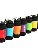 baratos Camisetas Femininas-Chaveiros com Lanterna LED 25lm 1 Modo Iluminação Mini / Impermeável Uso Diário Vermelho / Verde / Azul