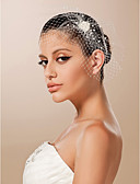 cheap Wedding Veils-Tulle Fascinators / Headwear with Floral 1pc Wedding / Special Occasion Headpiece