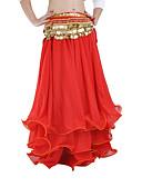 hesapli Göbek Dansı Giysileri-Göbek Dansı Etek Kadın's Performans Şifon Fırfırlı Düşük