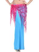 hesapli Göbek Dansı Giysileri-Göbek Dansı Kemer Kadın's Eğitim Polyester Payet Göbek Dansı Kalça Atkısı