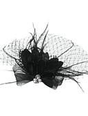 hesapli Moda Başlıklar-Tül Kristal Tüy Kumaş - Tiaras Kuş kafesi örtüleri 1 Düğün Özel Anlar Parti / Gece Başlık