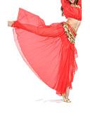 ieftine Ținută Dans din Buric-Dans din Buric Fustă Pentru femei Antrenament / Performanță Șifon Eșarfă / Panglică Căzut Fustă