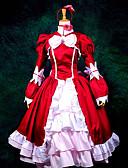 abordables Vestidos Lolita-Inspirado por Black Butler Elizabeth Animé Disfraces de cosplay Trajes Cosplay / Vestidos Retazos Manga Larga Pañuelo / Vestido / Chal Para Mujer / Satín