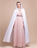cheap Women's Coats & Trench Coats-Chiffon Wedding / Party Evening Wedding  Wraps / Hoods & Ponchos With Capes