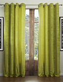 hesapli Gelin Şalları-Ahşap Korniş Kısmı Kopça Deliği Üstü Tab Top Çift Kaplamalı İki Panel Pencere Tedavi Modern Solid Oturma Odası 55% Pamuk Şönil/45% Rayon
