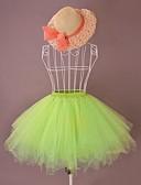 abordables Sombreros de mujer-Amaloli Lolita Organdí Satín Mujer Falda Enagua Cosplay Cian / Verde / Rosa Lolita Disfraces
