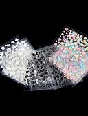 abordables Vestidos de Mujeres-50 pcs Calcomanías de Uñas 3D Encantador arte de uñas Manicura pedicura Diario Flor / Boda / Moda / Acrílico / Pegatinas de uñas 3D
