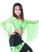 hesapli Göbek Dansı Giysileri-Göbek Dansı Üstler Kadın's Eğitim Dantelalar 3/4 Kol Top / Balo Salonu