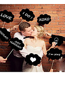 levne Závoje-Photo Booth rekvizity lepenkový papír Svatební dekorace Svatební / Párty Klasický motiv Celý rok