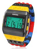 baratos Relógio Esportivo-Homens Relógio de Pulso / Relogio digital Alarme / Calendário / Cronógrafo Borracha Banda Amuleto Cores Múltiplas / LCD / Dois anos / Maxell CR2025