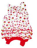 tanie Bikini i odzież kąpielowa 2017-Psy Sukienka Ubrania dla psów Owoc Czerwony Bawełna Kostium Dla zwierząt domowych Lato