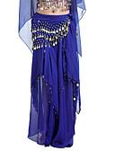 Χαμηλού Κόστους Ρούχα χορού της κοιλιάς-Χορός της κοιλιάς Φούστα Γυναικεία Εκπαίδευση Σιφόν Χάντρες / Που καλύπτει / Κέρματα Φυσικό Φούστα / Αίθουσα χορού