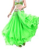 hesapli Göbek Dansı Giysileri-Göbek Dansı Etek Kadın's Eğitim Şifon Drape / Dalgalı Doğal Etek / Balo Salonu