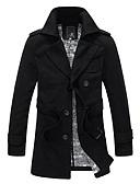 זול גברים-ג'קטים ומעילים-מעיל גשם ניילון חזה כפול של גברים