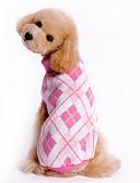 abordables Regalos de Boda-Perro Suéteres Ropa para Perro Ajedrez Azul Rosa Disfraz Para mascotas