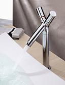povoljno Vjenčanice-suvremeni centrični keramički ventil jedna rupa s dva ručka rupa kroma, kupaonica sudoper slavina slavine za kupanje