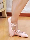 billige Dansetøj til børn-Herre Dame Ballet Kanvas Flade Hvid Sort Rød Lys pink Lyserød Kan ikke tilpasses