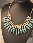 cheap Bras-Women's Bib Pendant Necklace / Statement Necklace - European Yellow, Fuchsia, Green Necklace For