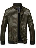ieftine Îmbrăcăminte Bărbați de Exterior-ARW bărbați Emerald Slim Style Adăugarea Soft Nap PU Haina de piele