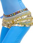 ieftine Accesorii de Dans-Dans din Buric Eșarfe Pentru Dans Din Buric Pentru femei Antrenament Poliester Mărgele / Monede Șalul de Șolduri pentru Dans din Buric