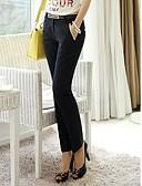 baratos Calças Femininas-Mulheres Tamanhos Grandes Cintura Baixa Reto Solto Jeans Calças - Sólido