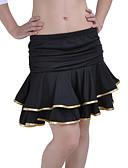זול צעיפים לנשים-ריקוד לטיני חצאית בגדי ריקוד נשים הדרכה חוטי זהורית / פוליאסטר / ניילון Leopard / קפלים / ריקוד בטן / ביצוע / אולם נשפים