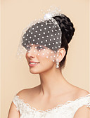 cheap Wedding Veils-Blusher Veils / Charms / Accessory Party Accessories Party / Party / Evening Classic Theme / Holiday Material