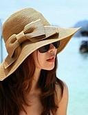 baratos Chapéus Femininos-Mulheres Vintage Garra de cabelo - Estilo Clássico Côr Sólida / De Palha / Verão / Chapéu e Boné / Chapéu de sol