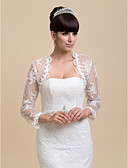 cheap Cocktail Dresses-Long Sleeve Lace Wedding / Party Evening / Casual Wedding  Wraps With Coats / Jackets