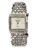 billige Trendy klokker-ASJ Dame Armbåndsur Japansk Imitasjon Diamant Rustfritt stål Band Fritid Elegant Sølv - Hvit Svart Ett år Batteri Levetid / SSUO SR626SW