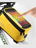 זול שמלות נשים-ROSWHEEL טלפון נייד תיק / תיקים למסגרת האופניים 5.5 אִינְטשׁ מסך מגע, עמיד למים רכיבת אופניים ל Samsung Galaxy S6 / LG G3 / Samsung Galaxy S4 כחול / שחור / iPhone 8/7/6S/6 / רוכסן חסין למים