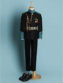 billige Ringbærerdresser-Svart Polyester Ringbærerdress - 4 Inkluderer Jakke Cummerband Skjorter Bukser