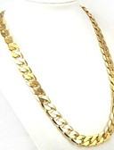 cheap Women's Dresses-Men's Curb Chain Necklace - Gold Plated Personalized, Classic, Fashion Gold Necklace 1pc For Daily, Casual, Sports