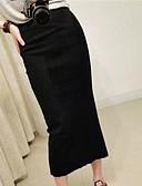 preiswerte Damen Röcke-Damen Arbeit Baumwolle Stifte Röcke - Solide Gespleisst