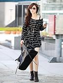 preiswerte Bluse-Damen Buchstabe - Schick & Modern / Street Schick T-shirt Moderner Stil / Sexy / Druck Schwarz Einheitsgröße / Frühling / Herbst / Winter