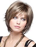 ieftine Bluză-Peruci Sintetice Ondulat Stil Tunsoare bob Fără calotă Perucă Păr Sintetic 8 inch Pentru femei Perucă Scurt