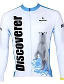 preiswerte Tanzzubehör-ILPALADINO Herrn Langarm Fahrradtrikot - White + himmelblau Fahhrad Trikot / Radtrikot, Rasche Trocknung, UV-resistant, Atmungsaktiv
