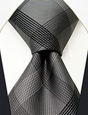 cheap Men's Ties & Bow Ties-Men's Work Basic Rayon Necktie - Color Block Plaid Basic