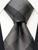 זול עניבות ועניבות פרפר לגברים-עניבת צווארון - קולור בלוק משובץ חוטי זהורית בסיסי עבודה בסיסי בגדי ריקוד גברים