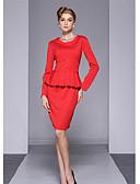 preiswerte Kleideruhr-Damen Anspruchsvoll Hose - Solide Rüsche Rot