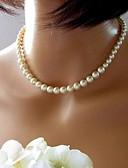 preiswerte Damen Schlafanzüge-Perle Ketten / Halskette - Perle, Künstliche Perle Retro, Europäisch, Brautkleidung Farbbildschirm Modische Halsketten 1pc Für Hochzeit