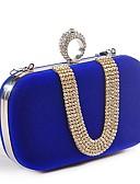 Χαμηλού Κόστους Βραδινά Φορέματα-Γυναικεία Τσάντες Πολυεστέρας Βραδινή τσάντα Κρυστάλλινη λεπτομέρεια Φούξια / Κόκκινο / Μπλε