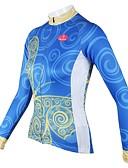 ieftine Accesorii Păr de Petrecerere-ILPALADINO Pentru femei Manșon Lung Jerseu Cycling - Albastru Bicicletă Jerseu, Uscare rapidă, Respirabil