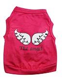 رخيصةأون كنزات نسائية-قط كلب T-skjorte ملابس الكلاب الملاك والشيطان أرجواني وردي أخضر قطن كوستيوم للحيوانات الأليفة
