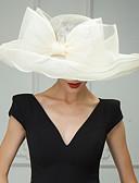 رخيصةأون فساتين حفلات-ألياف الكتان قبعات / أغطية الرأس مع ورد 1PC زفاف / مناسبة خاصة / فضفاض خوذة