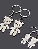 baratos Chaveiros de Lembrancinha-gravura de metal personalizado urso casal chaveiro