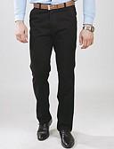 זול חולצות לגברים-בגדי ריקוד גברים כותנה רזה / צ'ינו מכנסיים אחיד / עבודה