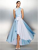 Χαμηλού Κόστους Βραδινά Φορέματα-Γραμμή Α Λαιμόκοψη V Ασύμμετρο Ζέρσεϊ Μπλοκ χρωμάτων Χοροεσπερίδα / Επίσημο Βραδινό Φόρεμα με Χιαστί / Πλισέ με TS Couture®