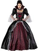 halpa Alushameet häihin-Vampyyri Cosplay-Asut Juhla-asu Naisten Halloween Festivaali / loma Halloween-asut asuja Musta / punainen Vintage / Pitsi / Satiini