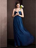 povoljno Koktel haljine-omotač / stupac špageti remenje duljina duljina svilene haljine djeveruša s draping criss križa lan ting mladenka ®